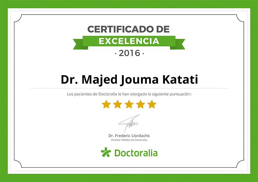Certificado de Excelencia Dr. Katati