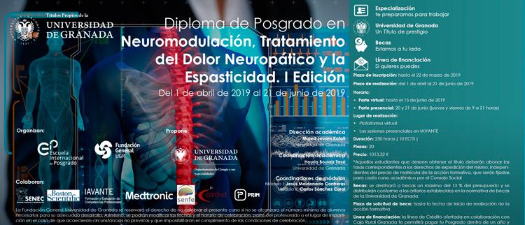 Diploma de Posgrado en Neuromodulación, Tratamiento del Dolor Nueropático y la Espasticidad. I Edición
