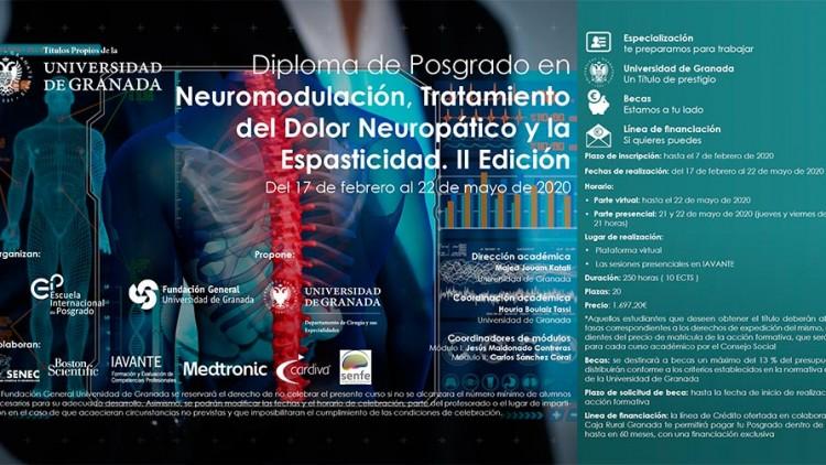 Diploma de Posgrado en Neuromodulación, Tratamiento del Dolor Neuropático y la Espasticidad. II Edición